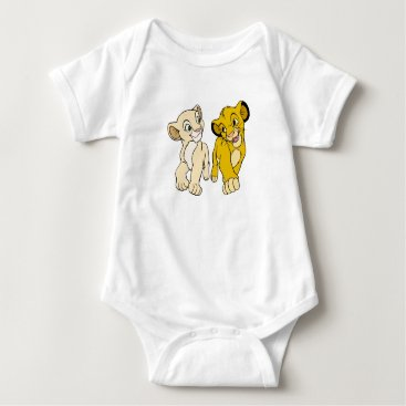 Lion King's Simba & Nala smiling Disney Baby Bodysuit