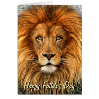 Lion Photograph Paint Art Happy Father's Day Greeting Cards