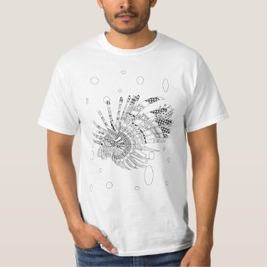 Lionfish Adult Coloring Shirt