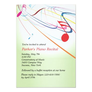 Listen to the Music Recital Invitation