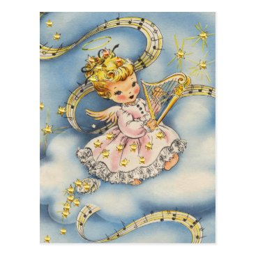 Little Angel With Her Harp Postcard