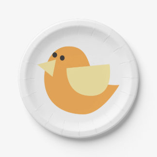 Little Birds (Orange Bird) Paper Plate