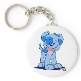 Little blue puppy keychain keychain