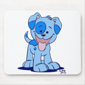 Little blue puppy mousepad mousepad
