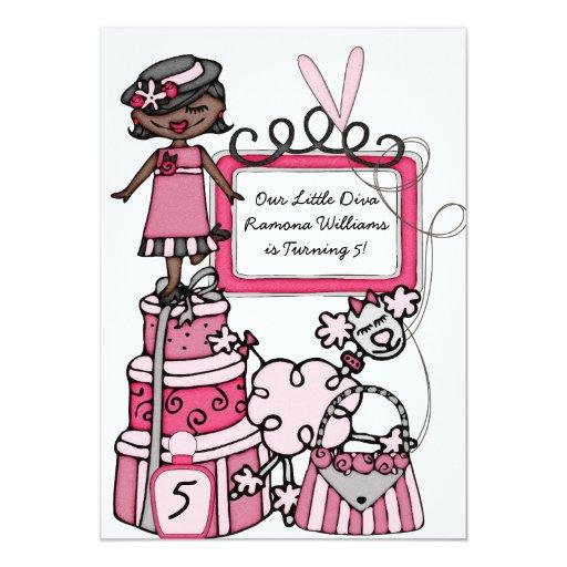 Girls Diva Invitations Birthday
