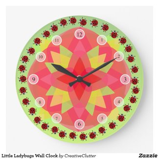Little Ladybugs Wall Clock