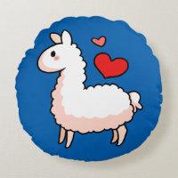 Little Llama Round Pillow