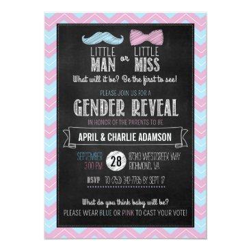 Little Man or Little Miss? Gender Reveal Card