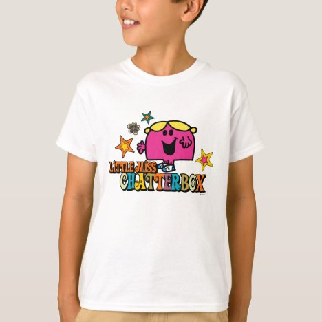 Little Miss Chatterbox & Colorful Stars T-Shirt