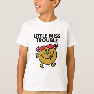 Little Miss Trouble | Black Lettering T-Shirt