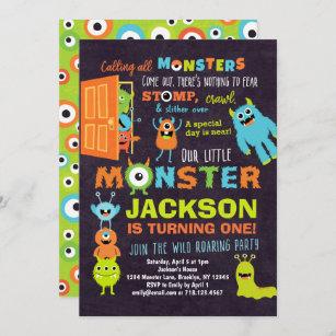 little monster invitations zazzle