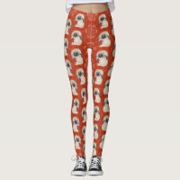 Little Pekingese Dog Leggings