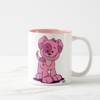Little pink puppy mug mug