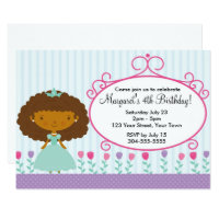 Little Princess Birthday Party Card