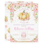 Little Pumpkin Baby Shower Pink Floral Baby Girl Invitation