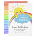 ❤️ Little Ray Of Sunshine Birthday Invitation