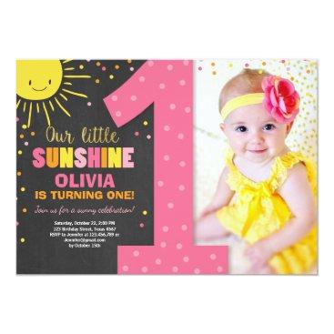 Little Sunshine Birthday invitation Lemonade Girl