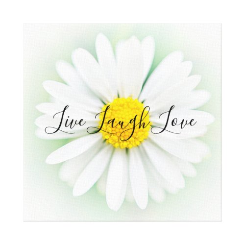 Live Laugh Love Daisy Canvas Print