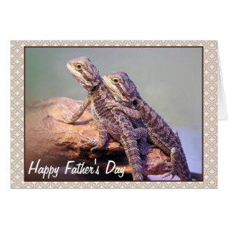 Lizard Friendship Photo Happy Father's Day Greeting Cards