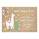 Llama Bridal Shower Fiesta Invitation