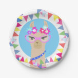 ❤️ Llama diva happy birthday party paper plate