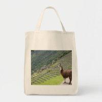 llama lands tote bag