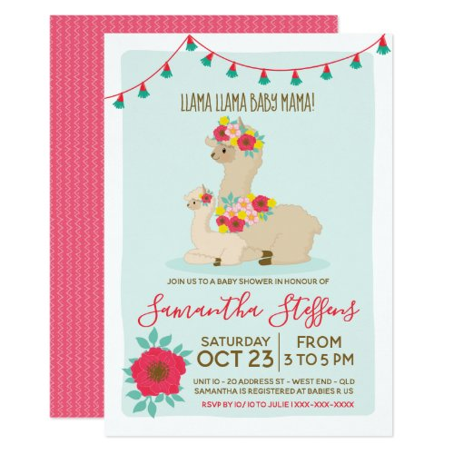 Llama Llama Baby Llama Baby Shower Invitation
