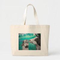Llama Love Large Tote Bag