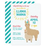 LLama Mama Baby Shower Invitation Farm theme