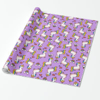 Llamacorn Madness Wrapping Paper