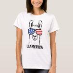 Llamerica, Funny Lllama shirt, 4th of July, USA T-Shirt