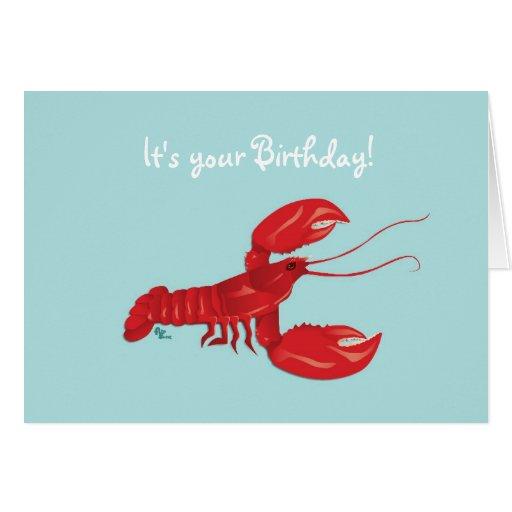 Lobster Birthday Card Zazzle