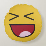 ❤️ lol. emoji round pillow