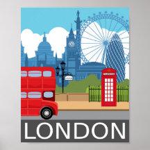 retro london posters prints zazzle