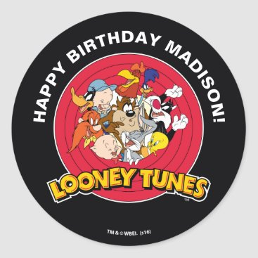 LOONEY TUNES™ Character Group | Birthday Classic Round Sticker