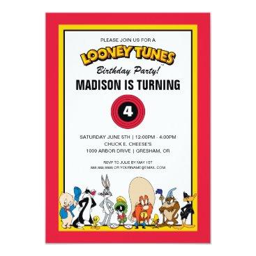 LOONEY TUNES™ Character Group   Birthday Invitation