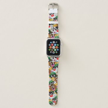 LOONEY TUNES™ Emoji Pattern Apple Watch Band