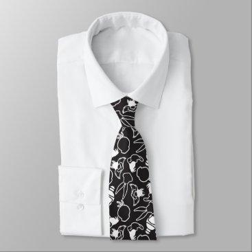 LOONEY TUNES™ Head Outlines Pattern Neck Tie