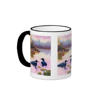 Loons At Twilight Mug mug