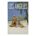 Los Angeles California Usa Travel Ad Vintage Poster
