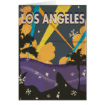 Los Angeles Hollywood Vintage vacation Poster