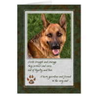 Loss of a Service Dog Pet Sympathy Card