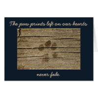 Loss of Pet Condolences Sympathy Card
