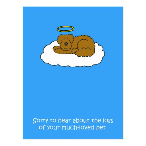Loss of Pet Dog Sympathy. Postcard