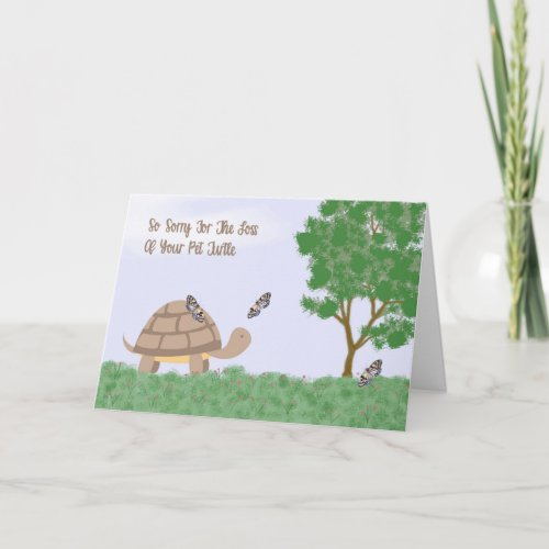 Loss of Pet Turtle Sympathy Card
