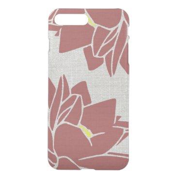 Lotus Flower linen look red iPhone 8 Plus/7 Plus Case