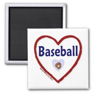 Love Baseball magnet