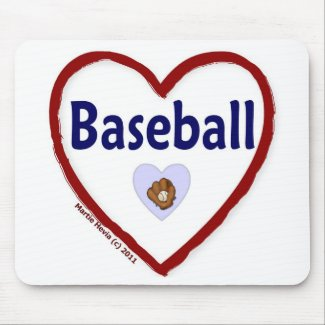 Love Baseball mousepad