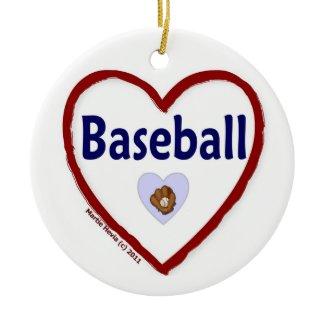Love Baseball ornament