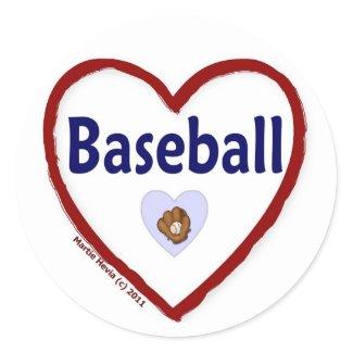 Love Baseball sticker